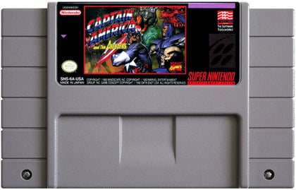 Captain America and The Avengers - Authentic Super Nintendo (SNES) Game Cartridge