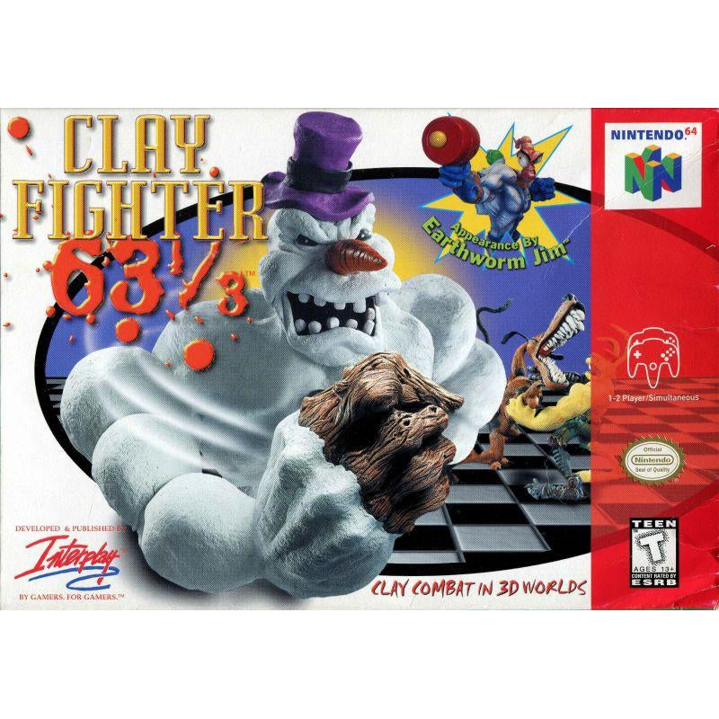 Clay Fighter 63 1/3 - Authentic Nintendo 64 (N64) Game Cartridge - YourGamingShop.com - Buy, Sell, Trade Video Games Online. 120 Day Warranty. Satisfaction Guaranteed.