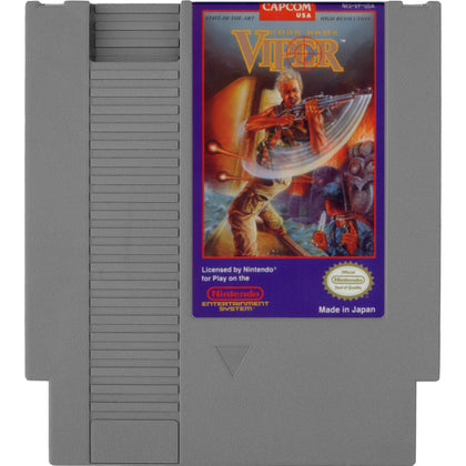 Code Name: Viper - Authentic NES Game Cartridge - YourGamingShop.com - Buy, Sell, Trade Video Games Online. 120 Day Warranty. Satisfaction Guaranteed.
