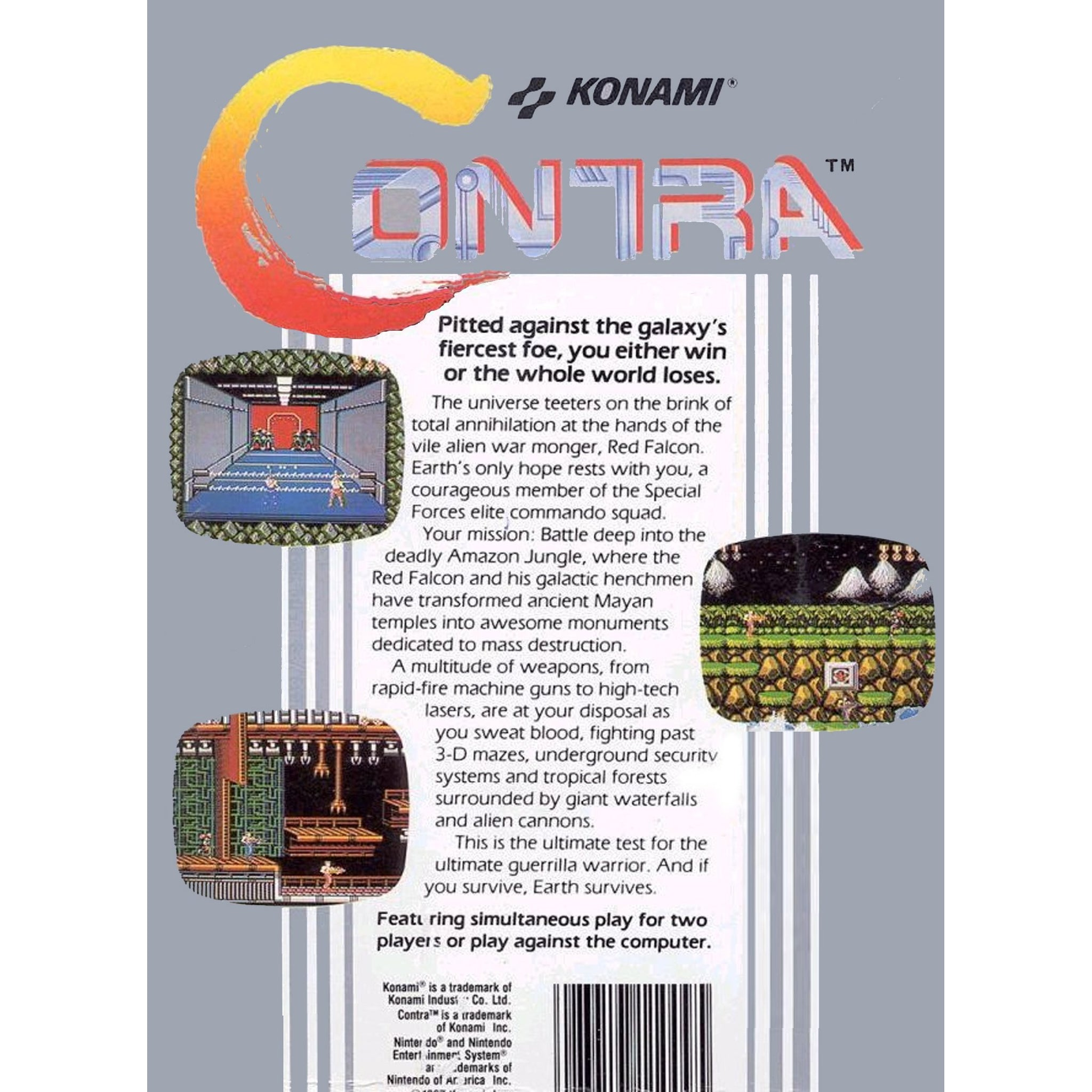 Contra - Authentic NES Game Cartridge - YourGamingShop.com - Buy, Sell, Trade Video Games Online. 120 Day Warranty. Satisfaction Guaranteed.