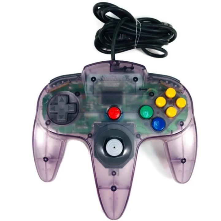 Nintendo 64 (N64) Official Controller - Atomic Purple - YourGamingShop.com - Buy, Sell, Trade Video Games Online. 120 Day Warranty. Satisfaction Guaranteed.