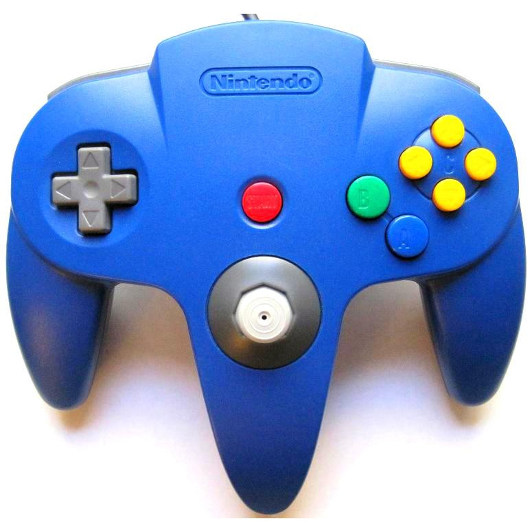 Nintendo 64 (N64) Official Controller - Blue - YourGamingShop.com - Buy, Sell, Trade Video Games Online. 120 Day Warranty. Satisfaction Guaranteed.