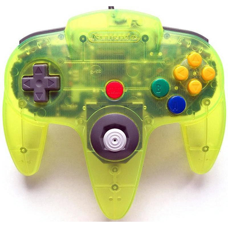 Nintendo 64 (N64) Official Controller - Extreme Green - YourGamingShop.com - Buy, Sell, Trade Video Games Online. 120 Day Warranty. Satisfaction Guaranteed.