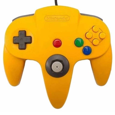 Nintendo 64 (N64) Official Controller - Yellow
