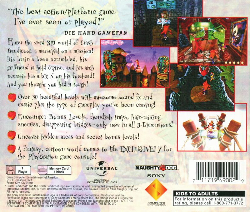 Your Gaming Shop - Crash Bandicoot (Greatest Hits) - PlayStation 1 (PS1) Game