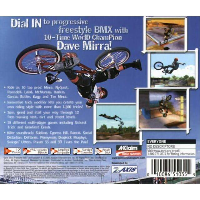 Dave Mirra Freestyle BMX - Sega Dreamcast Game Complete - YourGamingShop.com - Buy, Sell, Trade Video Games Online. 120 Day Warranty. Satisfaction Guaranteed.