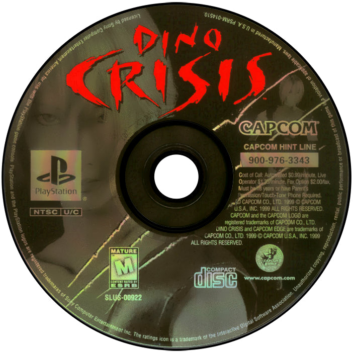 Dino Crisis - PlayStation 1 (PS1) Game Complete - YourGamingShop.com - Buy, Sell, Trade Video Games Online. 120 Day Warranty. Satisfaction Guaranteed.