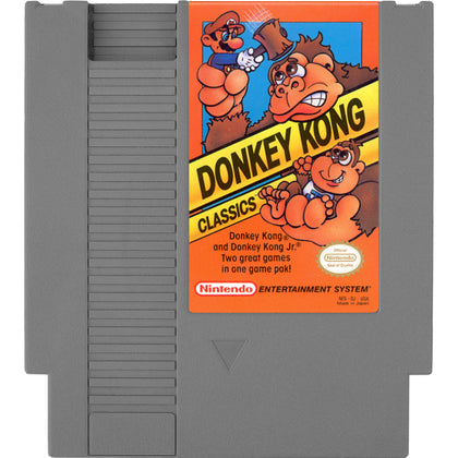Donkey Kong Classics - Authentic NES Game Cartridge - YourGamingShop.com - Buy, Sell, Trade Video Games Online. 120 Day Warranty. Satisfaction Guaranteed.