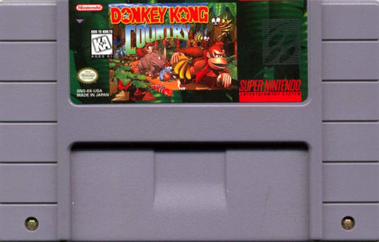 Donkey Kong Country - Super Nintendo (SNES) Game Cartridge