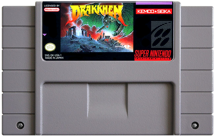Drakkhen - Super Nintendo (SNES) Game Cartridge