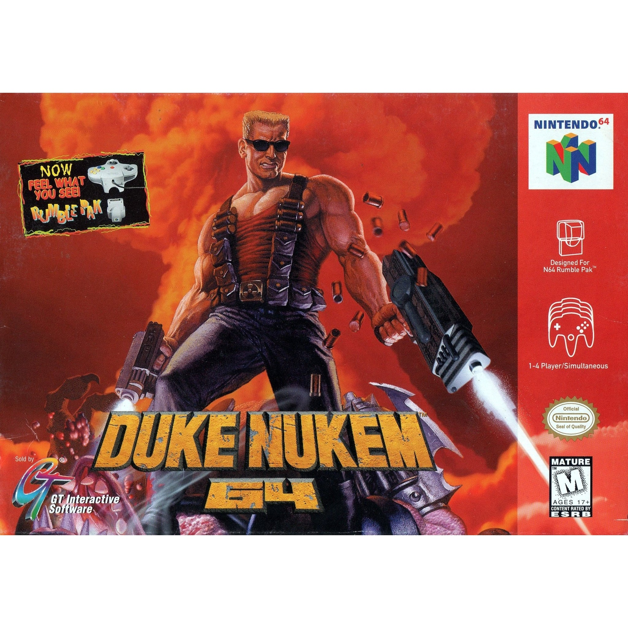 Duke Nukem 64 - Authentic Nintendo 64 (N64) Game Cartridge - YourGamingShop.com - Buy, Sell, Trade Video Games Online. 120 Day Warranty. Satisfaction Guaranteed.