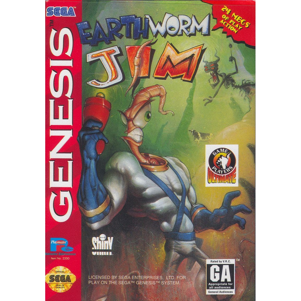 Earthworm Jim - Sega Genesis Game Complete - YourGamingShop.com - Buy, Sell, Trade Video Games Online. 120 Day Warranty. Satisfaction Guaranteed.