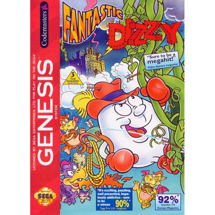 Fantastic Dizzy - Sega Genesis Game - YourGamingShop.com - Buy, Sell, Trade Video Games Online. 120 Day Warranty. Satisfaction Guaranteed.