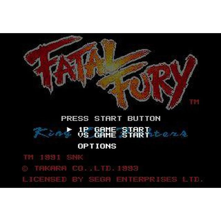 Fatal Fury - Sega Genesis Game Complete - YourGamingShop.com - Buy, Sell, Trade Video Games Online. 120 Day Warranty. Satisfaction Guaranteed.