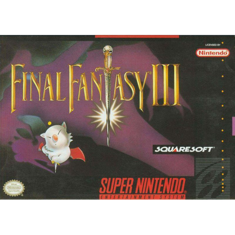 Final Fantasy III - Super Nintendo (SNES) Game Cartridge - YourGamingShop.com - Buy, Sell, Trade Video Games Online. 120 Day Warranty. Satisfaction Guaranteed.