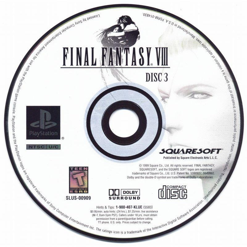 Final Fantasy VIII - PlayStation 1 (PS1) Game Complete - YourGamingShop.com - Buy, Sell, Trade Video Games Online. 120 Day Warranty. Satisfaction Guaranteed.