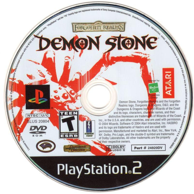 Forgotten Realms: Demon Stone - PlayStation 2 (PS2) Game Complete - YourGamingShop.com - Buy, Sell, Trade Video Games Online. 120 Day Warranty. Satisfaction Guaranteed.