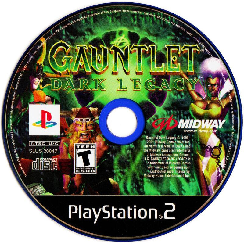 Gauntlet: Dark Legacy - PlayStation 2 (PS2) Game Complete - YourGamingShop.com - Buy, Sell, Trade Video Games Online. 120 Day Warranty. Satisfaction Guaranteed.