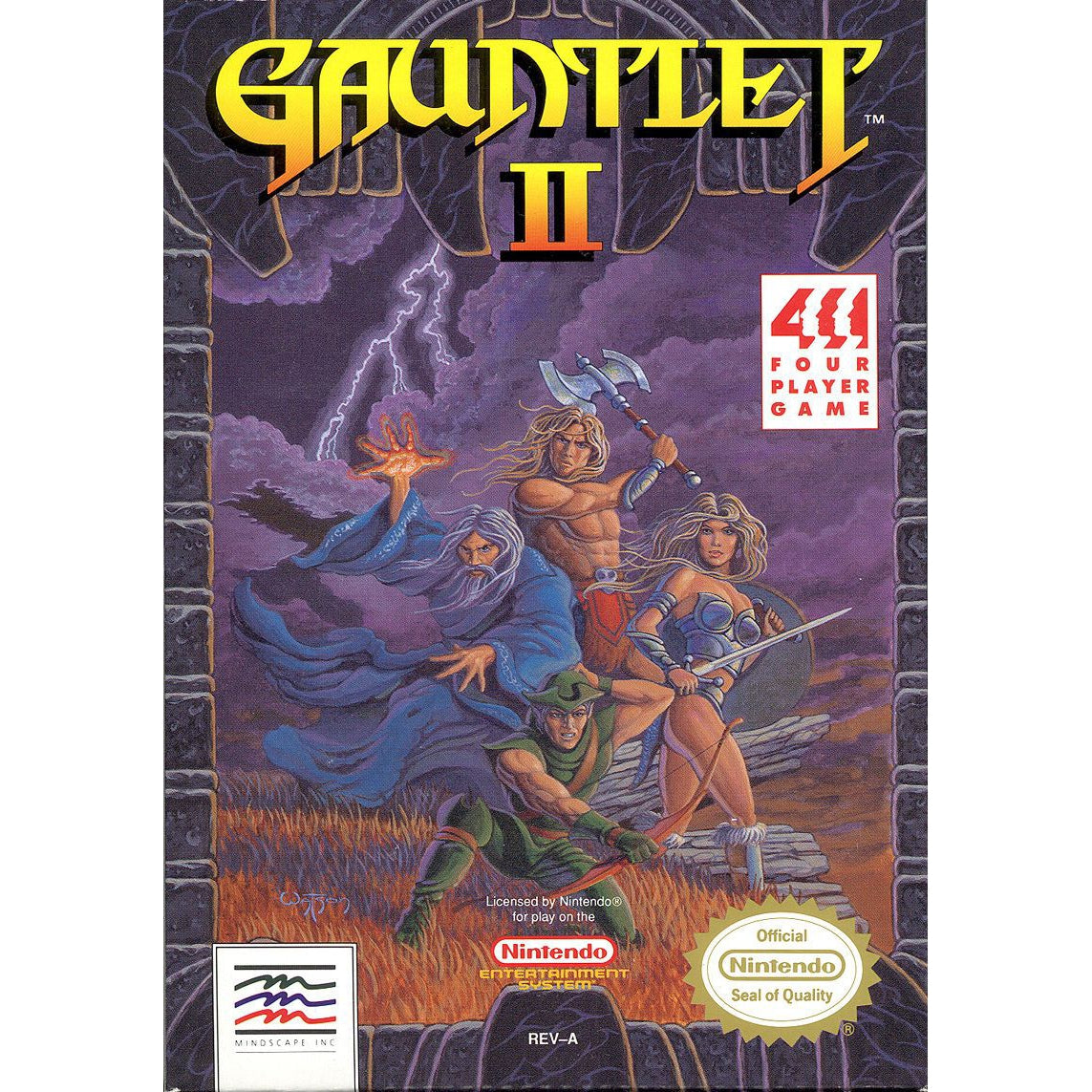 Gauntlet II - Authentic NES Game Cartridge - YourGamingShop.com - Buy, Sell, Trade Video Games Online. 120 Day Warranty. Satisfaction Guaranteed.