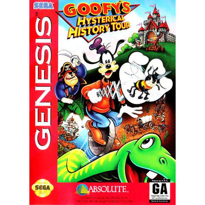 Goofy's Hysterical History Tour - Sega Genesis Game Complete - YourGamingShop.com - Buy, Sell, Trade Video Games Online. 120 Day Warranty. Satisfaction Guaranteed.
