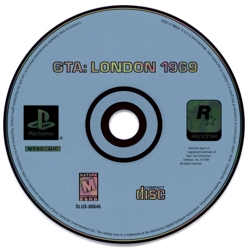 Grand Theft Auto: Mission Pack #1: London 1969 - PlayStation 1 (PS1) Game
