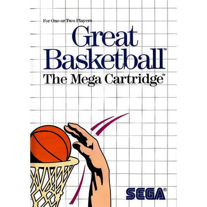 Great Basketball - Sega Master System Game Complete - YourGamingShop.com - Buy, Sell, Trade Video Games Online. 120 Day Warranty. Satisfaction Guaranteed.