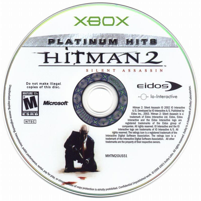 Hitman 2: Silent Assassin (Platinum Hits) - MIcrosoft Xbox Game Complete - YourGamingShop.com - Buy, Sell, Trade Video Games Online. 120 Day Warranty. Satisfaction Guaranteed.