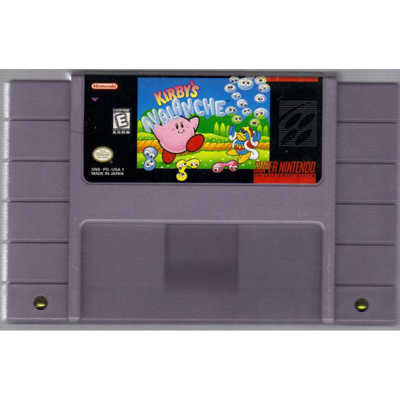 Kirby's Avalanche - Super Nintendo (SNES) Game Cartridge - YourGamingShop.com - Buy, Sell, Trade Video Games Online. 120 Day Warranty. Satisfaction Guaranteed.