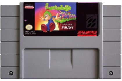 Lemmings - Super Nintendo (SNES) Game Cartridge