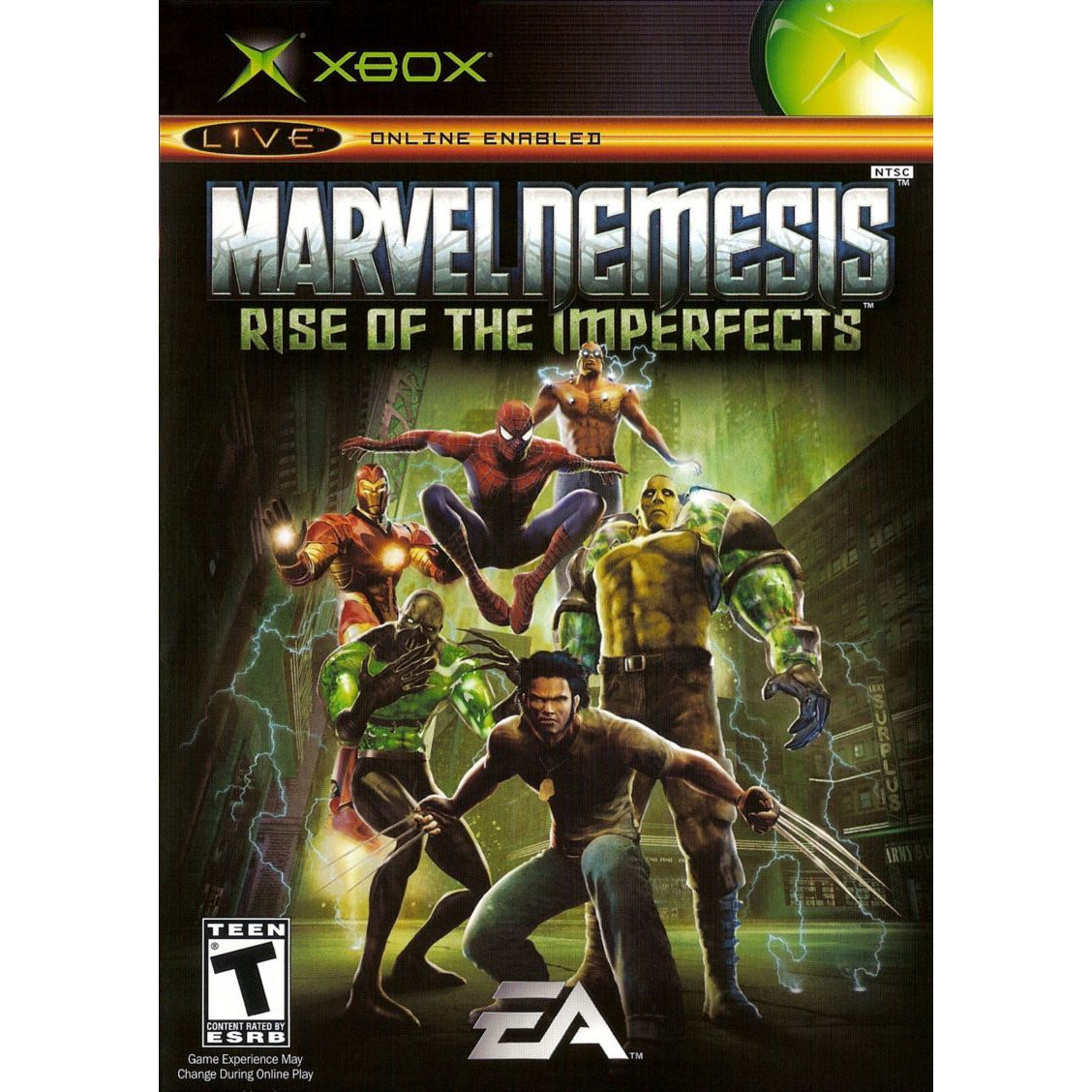 Marvel Nemesis: Rise of the Imperfects - Microsoft Xbox Game Complete - YourGamingShop.com - Buy, Sell, Trade Video Games Online. 120 Day Warranty. Satisfaction Guaranteed.
