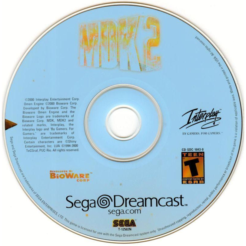MDK 2 - Sega Dreamcast Game Complete - YourGamingShop.com - Buy, Sell, Trade Video Games Online. 120 Day Warranty. Satisfaction Guaranteed.