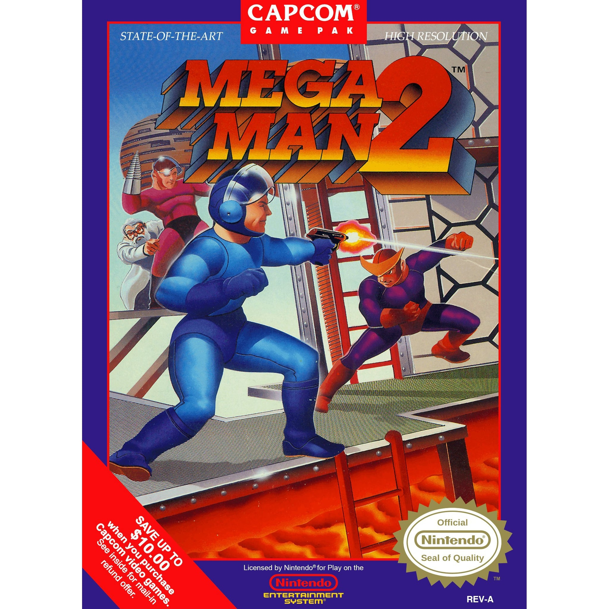 Mega Man 2 - Authentic NES Game Cartridge - YourGamingShop.com - Buy, Sell, Trade Video Games Online. 120 Day Warranty. Satisfaction Guaranteed.