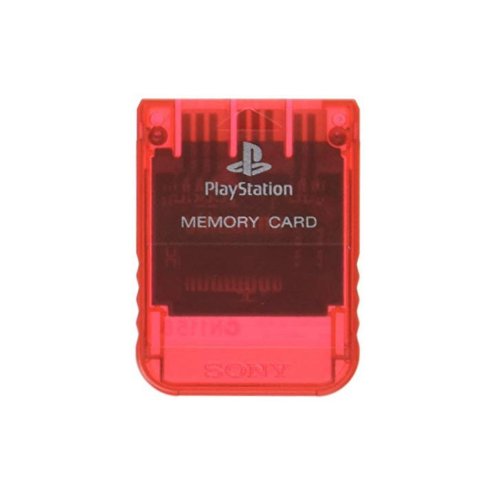 Sony PlayStation 1 Memory Card - Crimson Red - YourGamingShop.com - Buy, Sell, Trade Video Games Online. 120 Day Warranty. Satisfaction Guaranteed.