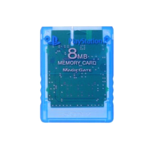 Sony PlayStation 2 8 MB Memory Card - Island Blue - YourGamingShop.com - Buy, Sell, Trade Video Games Online. 120 Day Warranty. Satisfaction Guaranteed.