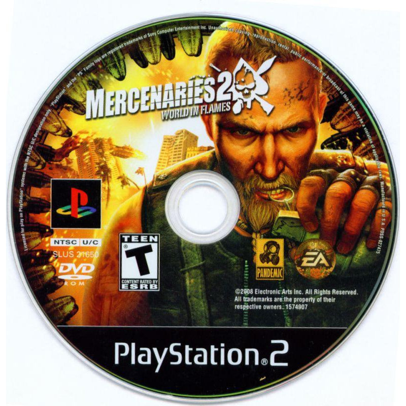 Your Gaming Shop - Mercenaries 2: World in Flames - PlayStation 2 (PS2) Game