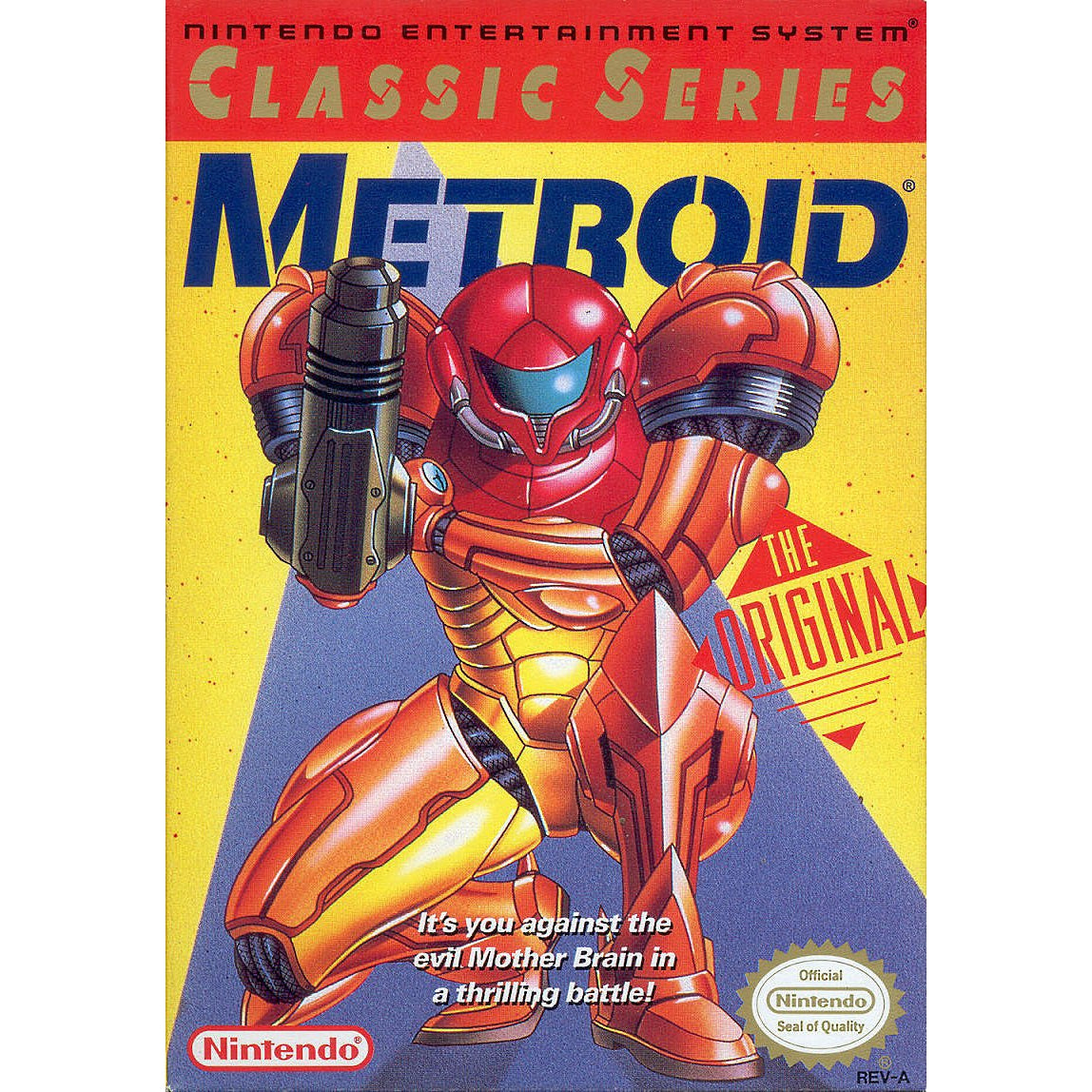 Metroid (Yellow Label) - Authentic NES Game Cartridge - YourGamingShop.com - Buy, Sell, Trade Video Games Online. 120 Day Warranty. Satisfaction Guaranteed.