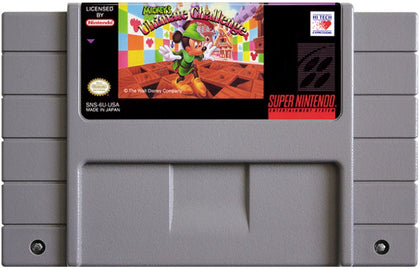 Mickey's Ultimate Challenge - Authentic Super Nintendo (SNES) Game Cartridge