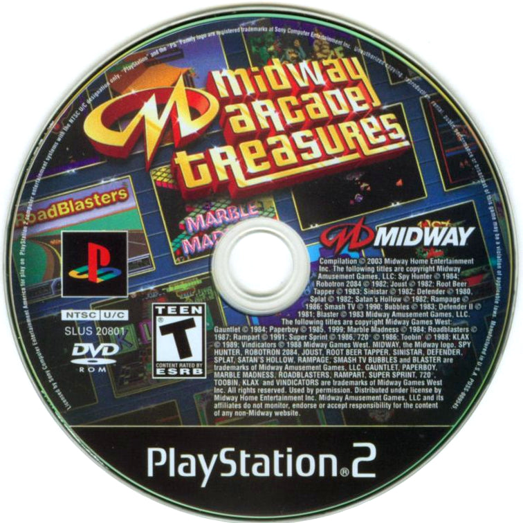Midway Arcade Treasures - PlayStation 2 (PS2) Game