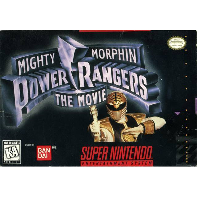 Mighty Morphin Power Rangers: The Movie - Super Nintendo (SNES) Game Cartridge - YourGamingShop.com - Buy, Sell, Trade Video Games Online. 120 Day Warranty. Satisfaction Guaranteed.