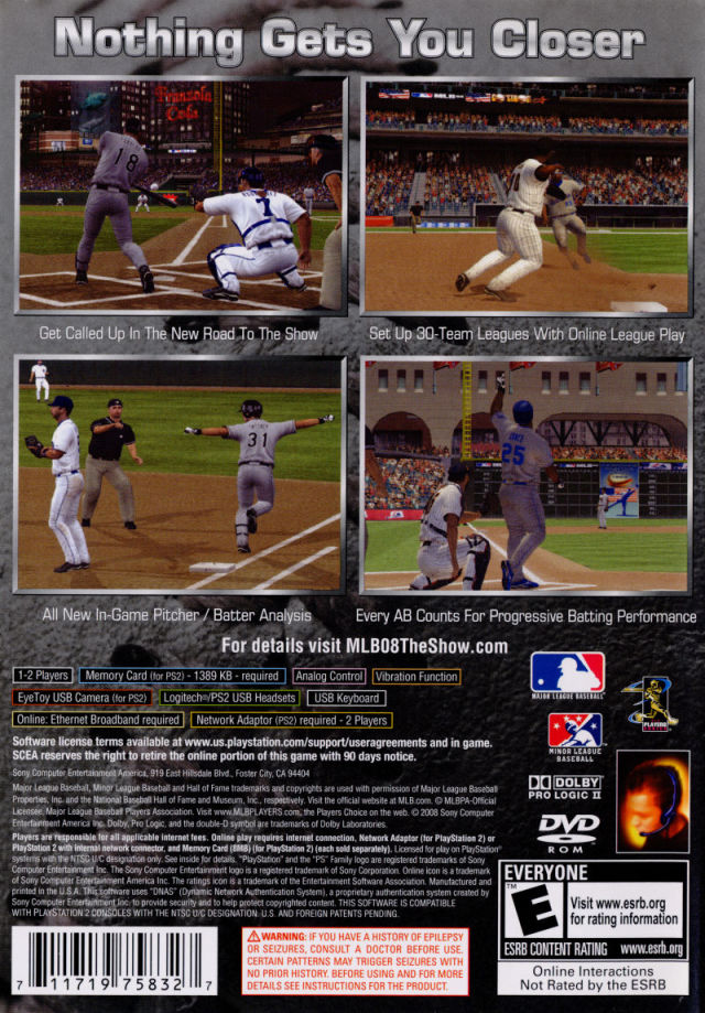 MLB 08: The Show - PlayStation 2 (PS2) Game