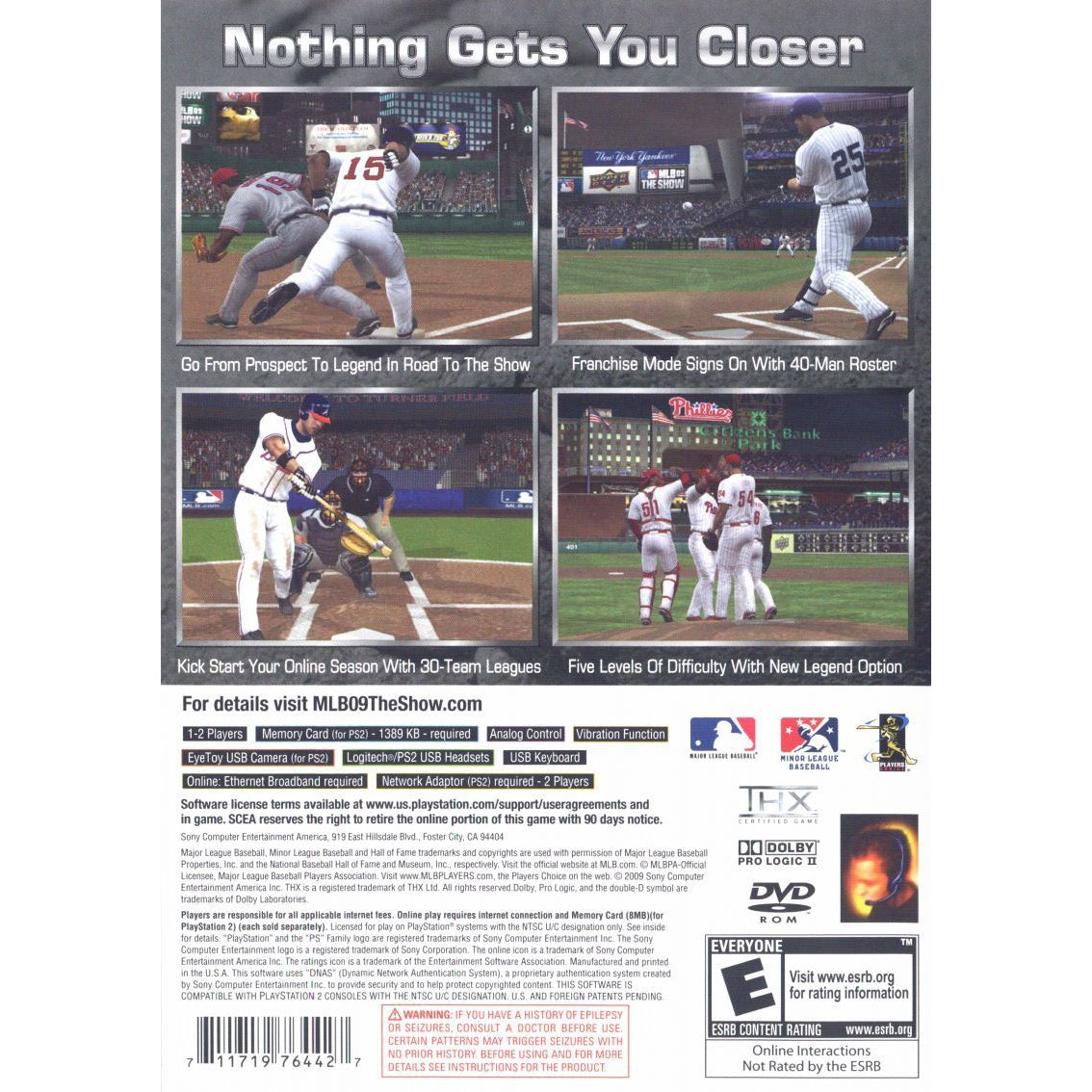 MLB 09: The Show - PlayStation 2 (PS2) Game Complete - YourGamingShop.com - Buy, Sell, Trade Video Games Online. 120 Day Warranty. Satisfaction Guaranteed.