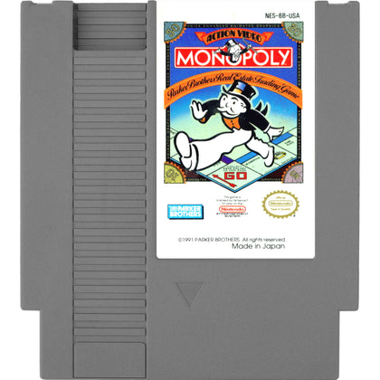 Monopoly - Authentic NES Game Cartridge