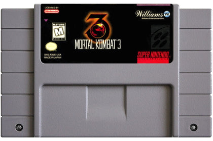 Mortal Kombat 3 - Super Nintendo (SNES) Game Cartridge