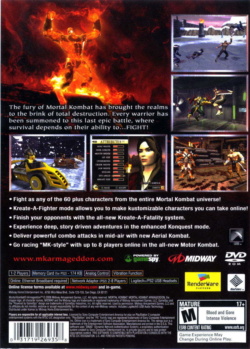 Mortal Kombat: Armageddon (Greatest Hits) - PlayStation 2 (PS2) Game