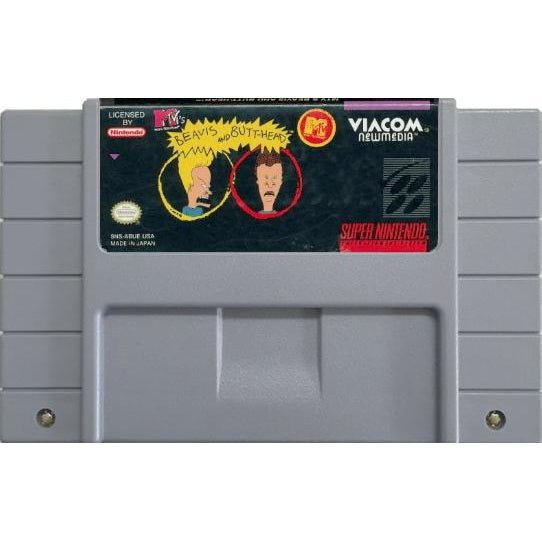 MTV's Beavis and Butt-Head - Super Nintendo (SNES) Game Cartridge - YourGamingShop.com - Buy, Sell, Trade Video Games Online. 120 Day Warranty. Satisfaction Guaranteed.