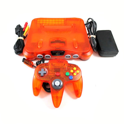 Nintendo 64 (N64) System - Fire Orange