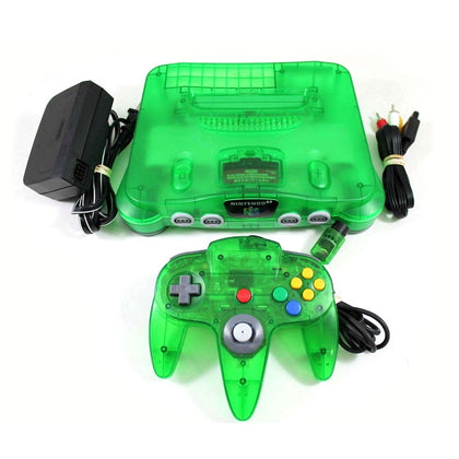 Nintendo 64 (N64) System - Jungle Green