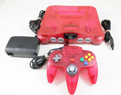 Nintendo 64 (N64) System - Watermelon Red