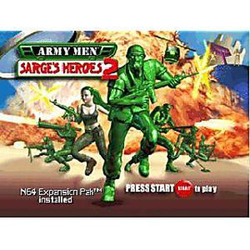Your Gaming Shop - Army Men Sarge's Heroes 2 (Green Cart) - Authentic Nintendo 64 (N64) Game Cartridge