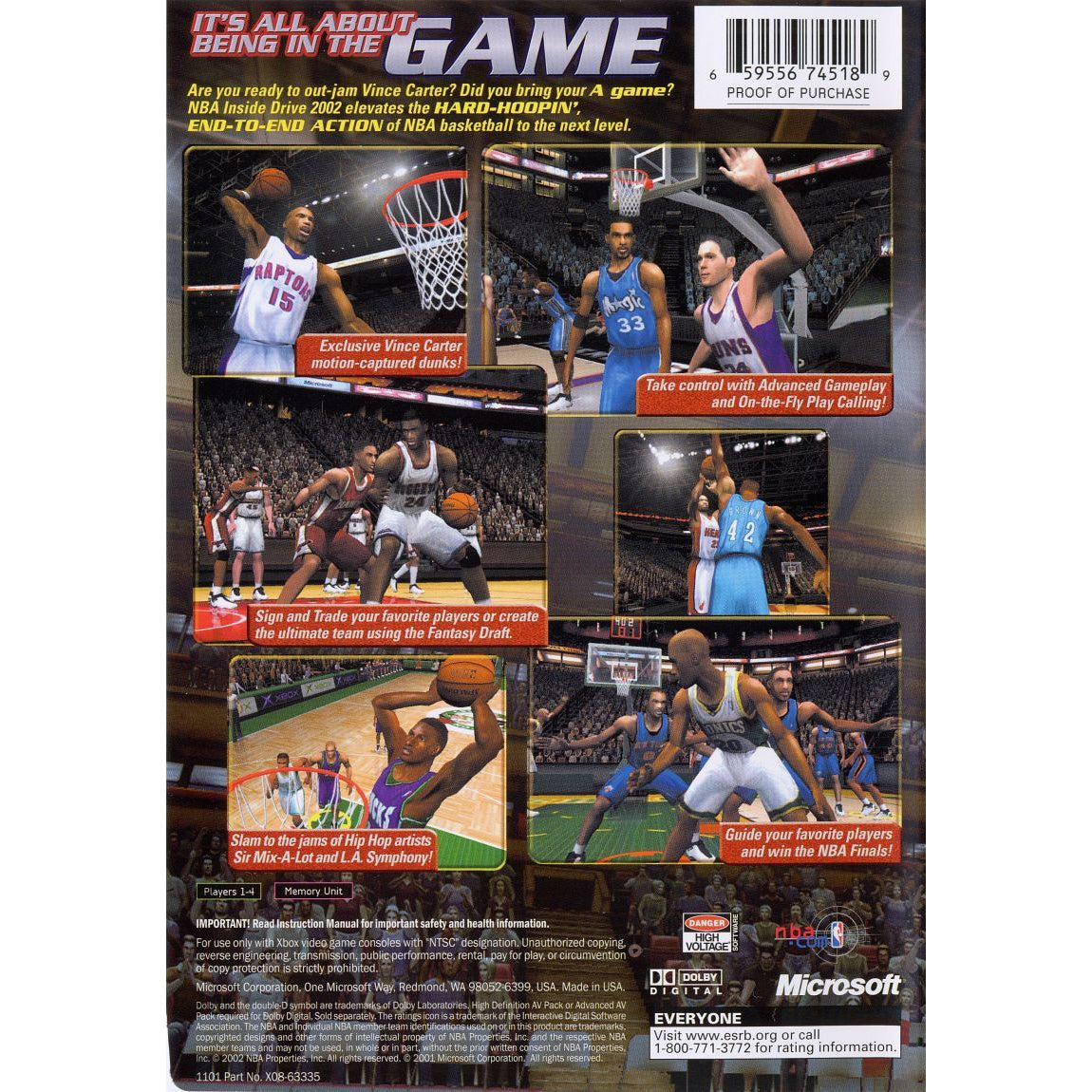 NBA Inside Drive 2002 - Microsoft Xbox Game Complete - YourGamingShop.com - Buy, Sell, Trade Video Games Online. 120 Day Warranty. Satisfaction Guaranteed.